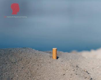 Zigarette im Strand